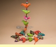 "Southwest String Of Birds Ornament Garland 57""  (o61)"