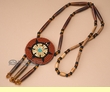 "Native American Beaded Rosette Necklace 28""  (73)"