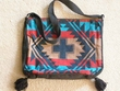 "Southwest Style Flat Bottom Acrylic Purse 14""x11"""