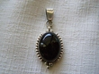 Southwest Style Sterling Silver Pendant -Large Oval