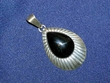 Southwest Style Sterling Silver Pendant -Tear Drop 2""