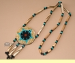 "Southwest Style Beaded Navajo Indian Necklace 28""  (68)"