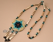 """Southwest Style Beaded Navajo Indian Necklace 28""""  (68)"""