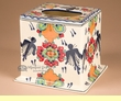 Hand Painted Southwest Talavera Pottery Tissue Cover  (tc5)