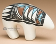 "Southwest Tigua Indian Pottery -Fetish Bear 5""x3.5"""
