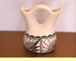 "Southwest Tigua Indian Pottery -Wedding Vase 5""x5"" (n)"