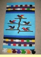 Southwest Tree Of Life Wall Hanging 30x48 -Turquoise