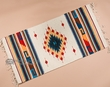 "Southwest Zapotec Throw Rug 23""x39"" (147)"