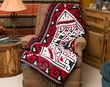 Southwestern Accent Throw 50x60 -Navajo Red  (t36)