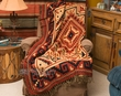 Southwestern Accent Throw 50x60 -Navajo Rust  (t35)