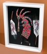 Southwestern Art Shadow Box 12x15 -Two Kokopelli  (sb9)