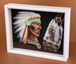Southwestern Art Shadow Box -Indian  (sb4)