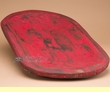 "Old Style Southwest Carved Wooden Bowl 23"" -Red  (b1)"