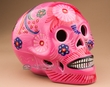 "Southwestern Day Of The Dead Painted Skull 6.5""  (s19)"