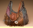 Southwestern Fringed Leather Concho Purse  (423)
