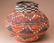 """Southwestern Hand Coiled Basket 12.5"""" (a6)"""