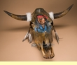 Southwestern Hand Painted Steer Skull 26x20 -Scout  (68)