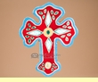 Southwestern Handcrafted Saltillo Tile Cross  (60)