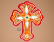 Southwestern Handcrafted Saltillo Tile Cross  (61)