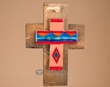 Southwestern Handcrafted Wood & Saltillo Tile Cross  (64)