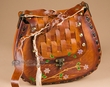 "Western Leather Boho Purse -Basket Weave 11""x10"" (sw9)"