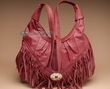Southwestern Leather Concho Purse -Dark Red  (p66)