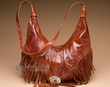Southwestern Leather Cowhide Purse -Brown  (40)