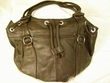 Southwestern Leather Draw String Purse -Brown  (56)