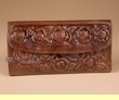 "Southwestern Leather Handbag Wallet 7.5"" -Brown  (p459)"