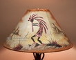 "Southwestern Leather Lampshade 18"" -Kokopelli  (OL14)"