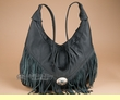 Southwestern Leather Purse -Black  (53)