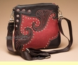 "Southwestern Messenger Bag Purse -Red  9""x9""  (p36)"