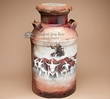 Southwestern Painted Milk Cans