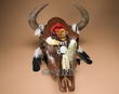 Southwestern Painted Steer Skull   -Warrior  (s94)