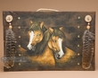Western Hand Painted Wall Plaque -Horses  (p25)