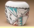 "Southwestern Tigua Indian Painted Vase 8.5""  (p71)"
