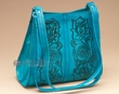 Southwestern Tooled Leather Purse -Turquoise  (420)