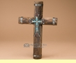 Southwestern Wooden Overlay Wall Cross  (c47)