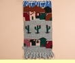 Southwestern Zapotec Indian Wall Hanging 15x30 (21)