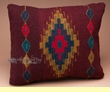 Southwestern Zapotec Indian Wool Throw Pillow 18x12 (w)