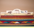 "Southwestern Zapotec Rug Wall Hanger 30"" -Native (RH37)"