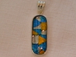 Sterling Silver Jewelry - Dichroic Glass Pendant  (128)