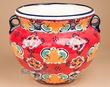 Talavera Hand Painted Hanging Planter Pot 12x9  (T16)