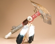 "Tarahaumara Indian Hoof Tomahawk 21"" -Jaw Bone  (t140)"
