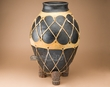 "Tarahumara Indian Clay Pottery Vase 24""  (p3031)"