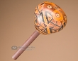 """Andean Decorated Natural Gourd Rattle 7"""" (145)"""