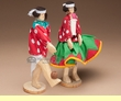 "Tarahumara Indian Carved Wooden Dolls 8"" (d1)"