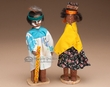 "Tarahumara Indian Carved Wooden Dolls 8"" (d2)"