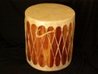 "Tarahumara Indian Cedar Drum 16""x18"" One-Of-A-Kind Closeout"