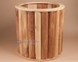 Tarahumara Indian Cedar Drum Ring 20x20 -Clearance